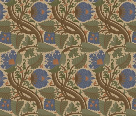 Damask 6b fabric by muhlenkott on Spoonflower - custom fabric