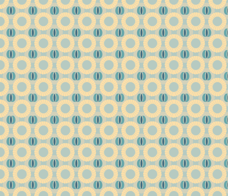 Florating-Blue fabric by tammikins on Spoonflower - custom fabric