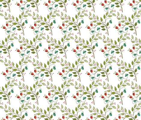 Floral Lattice-white fabric by leslipepper on Spoonflower - custom fabric