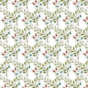 Floral Lattice-white