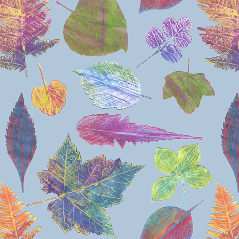 autumn leaves fabric by weavingmajor on Spoonflower - custom fabric