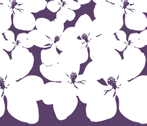 Magnolia Little Gem - Purple - 2 Yard Panel fabric by kristopherk on Spoonflower - custom fabric