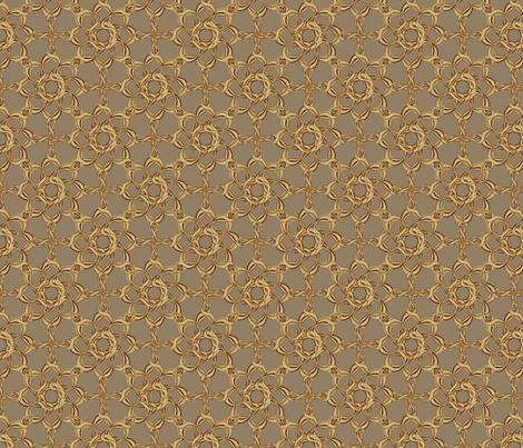 Rosettes Petite - Fawn fabric by kristopherk on Spoonflower - custom fabric