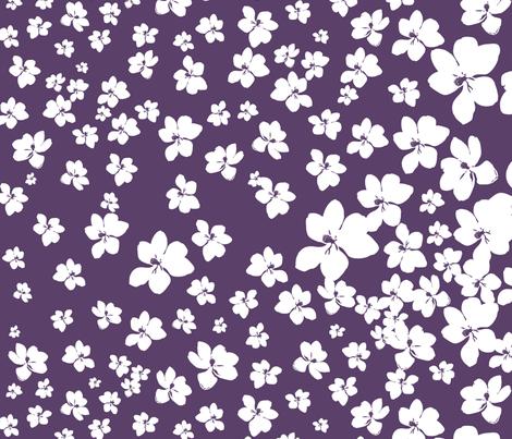 Magnolia Little Gem - Purple - 1 yard panel fabric by kristopherk on Spoonflower - custom fabric