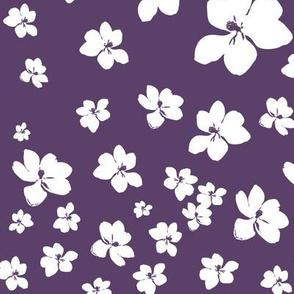 Magnolia Little Gem - Purple - 1 yard panel