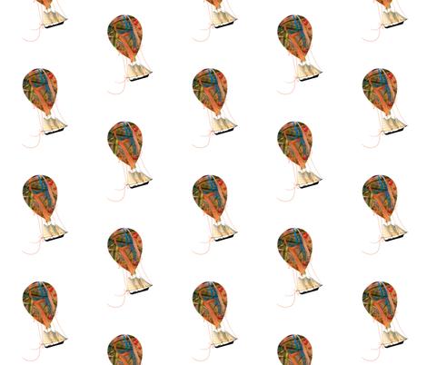 Hot Air Balloon Dream fabric by karenharveycox on Spoonflower - custom fabric