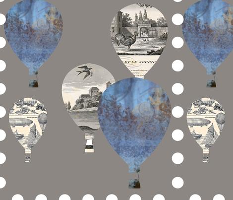 Hot Air Balloons fabric by karenharveycox on Spoonflower - custom fabric