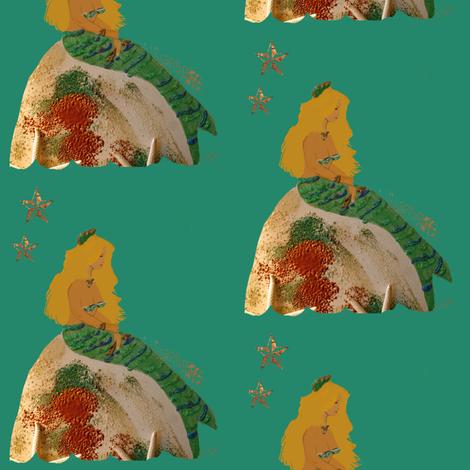 Mythical Mermaid fabric by karenharveycox on Spoonflower - custom fabric