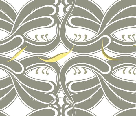 pimu keltainen fabric by huutodesign on Spoonflower - custom fabric