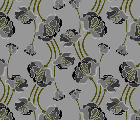 Betty Flora fabric by renule on Spoonflower - custom fabric