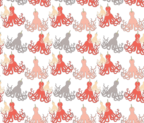 Horned Octopus fabric by kat_v_l_wright on Spoonflower - custom fabric
