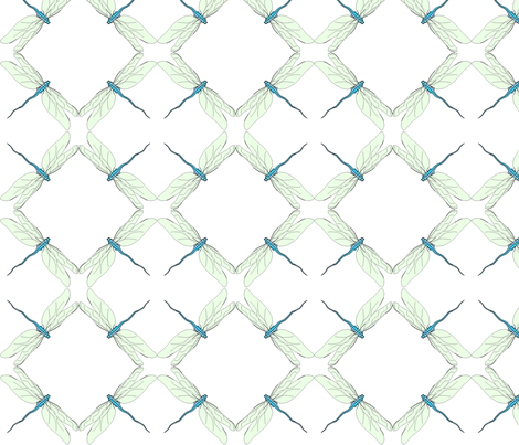 vll_dragon_fly_1 fabric by victorialasher on Spoonflower - custom fabric