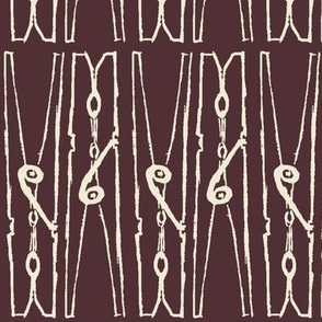 Clothespins, Eggplant - Sun Soaking