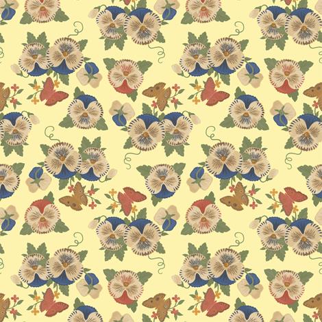 Violas 1a fabric by muhlenkott on Spoonflower - custom fabric