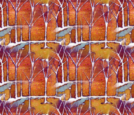 Tree_Fire fabric by ddmote on Spoonflower - custom fabric
