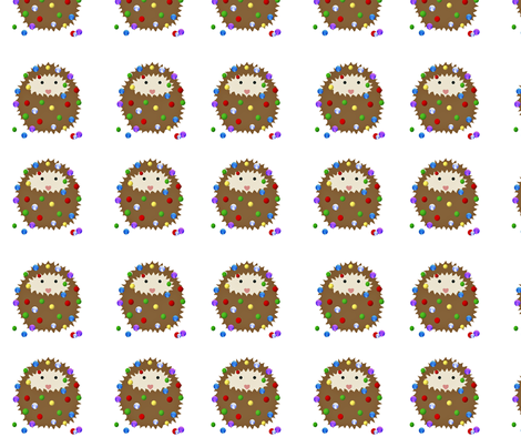 hedgies_christmas_balls_png fabric by vo_aka_virginiao on Spoonflower - custom fabric