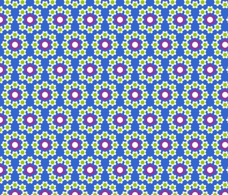 Daisy_Chain_Blue fabric by aliceapple on Spoonflower - custom fabric