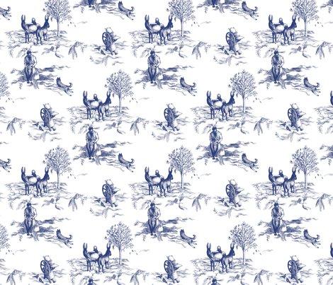 Fantasy toile de jouy donkeys dogs and letterpresses - Chambre toile de jouy ...
