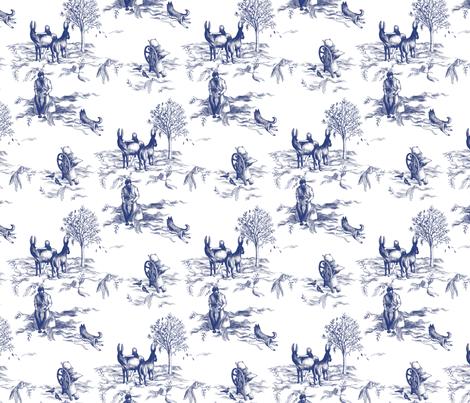 Fantasy toile de jouy donkeys dogs and letterpresses fabric easykeeper - Rideaux toile de jouy ...
