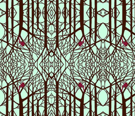 Winter Cardinal fabric by poetryqn on Spoonflower - custom fabric