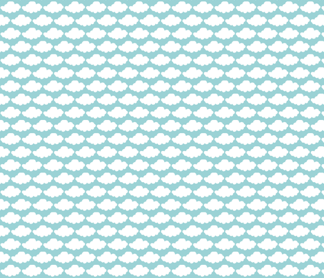clouds fabric by beforeiwasborn on Spoonflower - custom fabric