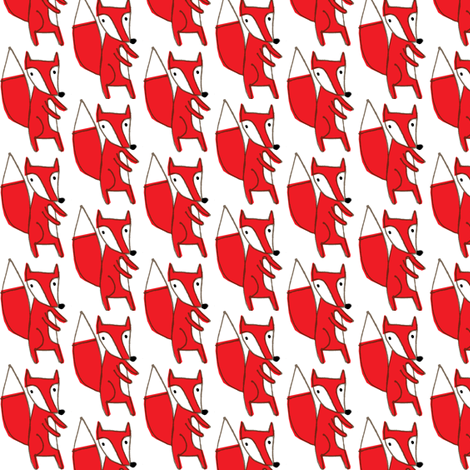 red fox fabric by anda on Spoonflower - custom fabric