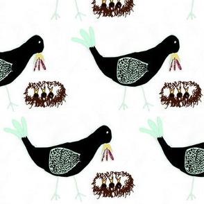 Bird With Babies