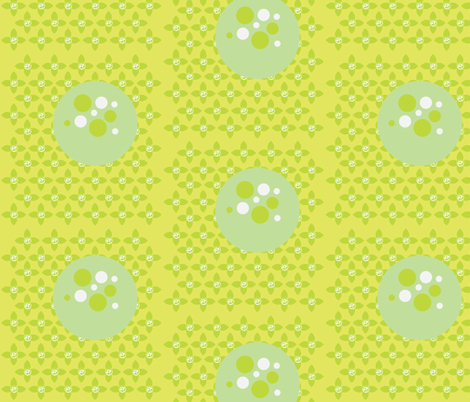 Florbs Split Pea fabric by dolphinandcondor on Spoonflower - custom fabric