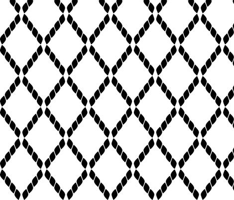 Black & White Ropes fabric by mrshervi on Spoonflower - custom fabric