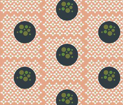 Florbs in Salmon fabric by dolphinandcondor on Spoonflower - custom fabric