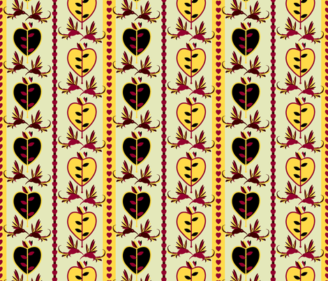 lovebirds fabric by royalforest on Spoonflower - custom fabric
