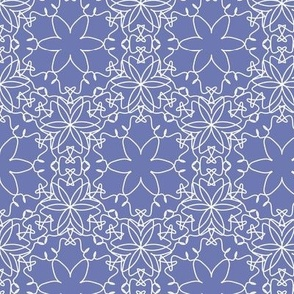 Delicate Floral - Periwinkle