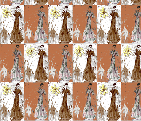 Steppin' Out Sister II-137 fabric by kkitwana on Spoonflower - custom fabric