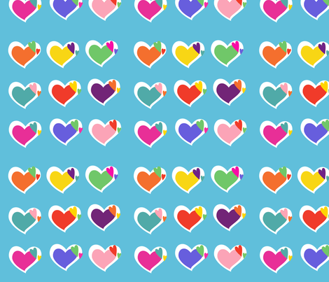 hearts_fabric fabric by beforeiwasborn on Spoonflower - custom fabric