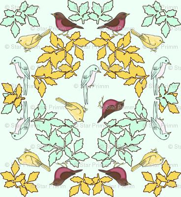bird wreath mint