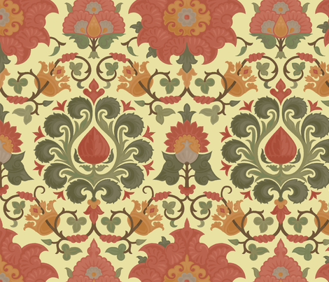 Damask 4b fabric by muhlenkott on Spoonflower - custom fabric