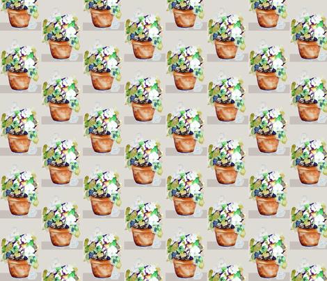 Potted Petunias fabric by karenharveycox on Spoonflower - custom fabric