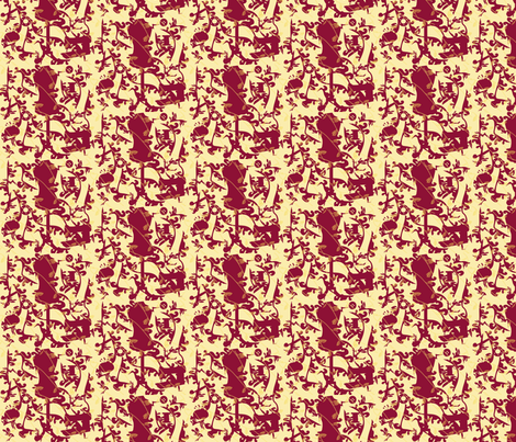 Sewing Toile fabric by coveredbydesign on Spoonflower - custom fabric