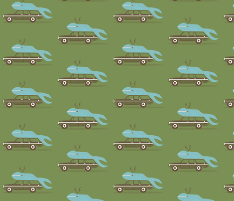ten pt. whale fabric by junej on Spoonflower - custom fabric