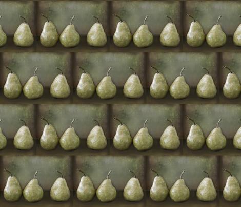 Pear Harvest - Still Life fabric by kristopherk on Spoonflower - custom fabric