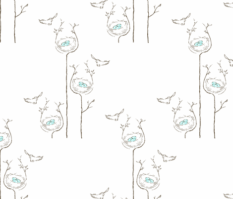 Sparrow_s_Nest fabric by ddmote on Spoonflower - custom fabric