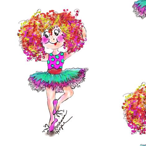 Dancing Sophia  Ballerina doll by Rosanna Hope for Babybonbons fabric by rosannahope on Spoonflower - custom fabric