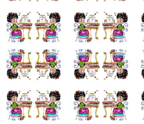 Musical Amanda  , LA LA LA, by Rosanna Hope fabric by rosannahope on Spoonflower - custom fabric