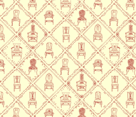 Antique chairs fabric by jasmo on Spoonflower - custom fabric