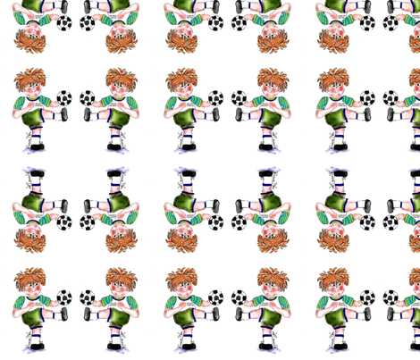Soccer Fun by Rosanna Hope fabric by rosannahope on Spoonflower - custom fabric