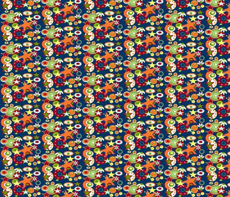 Crazy Stars fabric by cutiepoops on Spoonflower - custom fabric