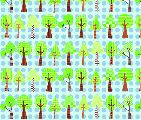 treeline fabric by petunias on Spoonflower - custom fabric