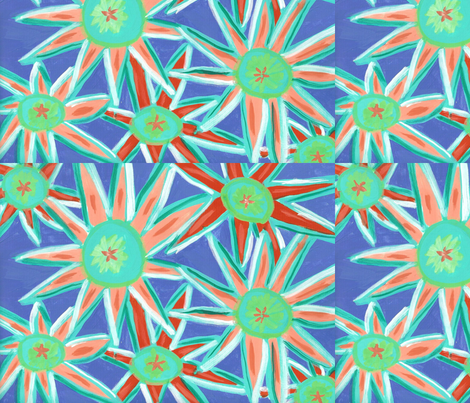 Funky_stars fabric by lucied on Spoonflower - custom fabric