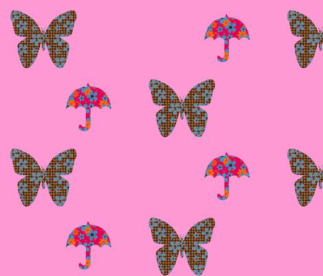 rainyflowerfly fabric by snork on Spoonflower - custom fabric