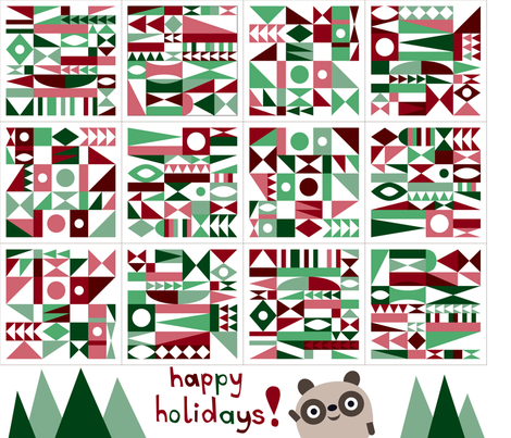 mid century holiday napkins fabric by dennisthebadger on Spoonflower - custom fabric